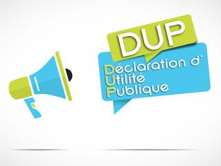 mégaphone : Déclaration Utilité Publique DUP