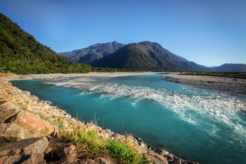 Near Franz & Fox glaciers in New Zealand in the South Island., N