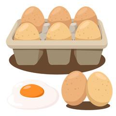 Illustrator of eggs in box
