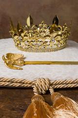 Royal crown on cushion