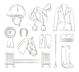 Horse riding set