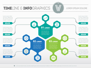 Part of the report with logo and icons set. Vector infographic o