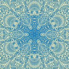 Round vector pattern. Decor for your design, lace ornament.