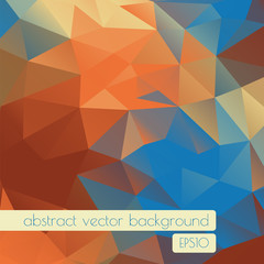 Colorful vector background of geometric shapes. Geometric retro pattern with place for text.