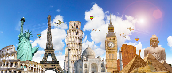 Famous landmarks of the world