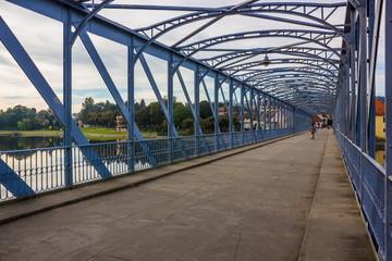 Iron bridge, Vltava river, Tyn nad Vltavou, Czech Republic