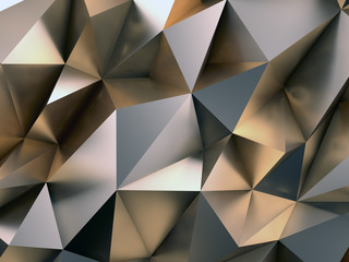Abstract Metal Background 3D Illustration