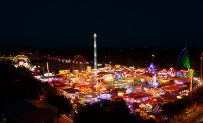 high viewpoint of Goose Fair in Nottingham.