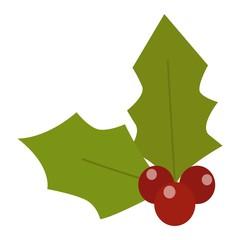 Christmas berry vector illustration.