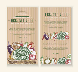 Vegetables market, organic food design template
