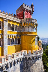 Fotomurales - Sintra, Pena National Palace (Palacio Nacional), Portugal.