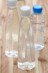 Plastic of Water bottles.