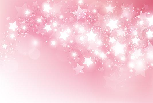 ピンク 星 背景