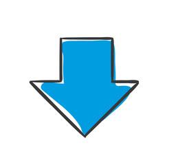Stick Figure Series Icon / Pfeil unten