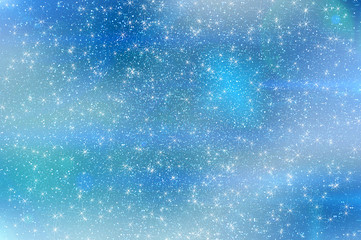 abstract star sky snowflakes clouds