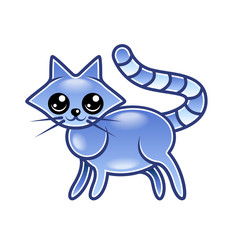 Cute cartoon cat isolated vector