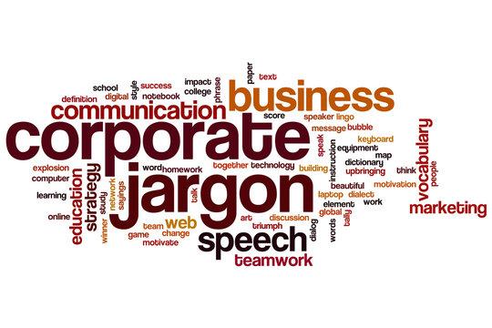 Corporate jargon word cloud