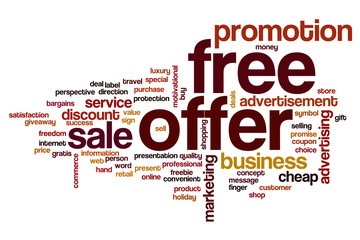 Free offer word cloud