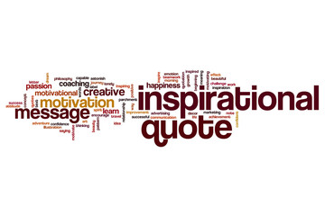 Inspirational quote word cloud