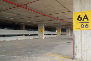 Parking lot / View of empty parking lot.