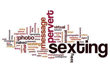 Sexting word cloud