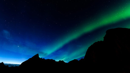 Aurora borealis or northern lights in Norway