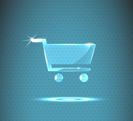 glass shopping cart icon