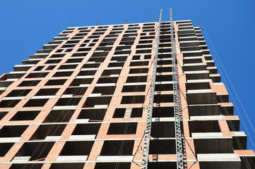 Urban construction. Building construction site. Building construction site image.