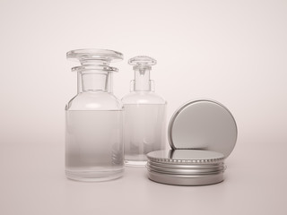 Cosmetics bottle template