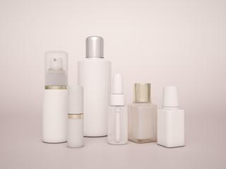 Cosmetics bottle template