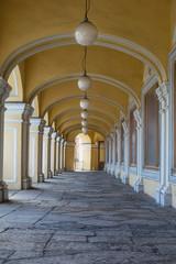 Open gallery of the second floor of Gostiny Dvor