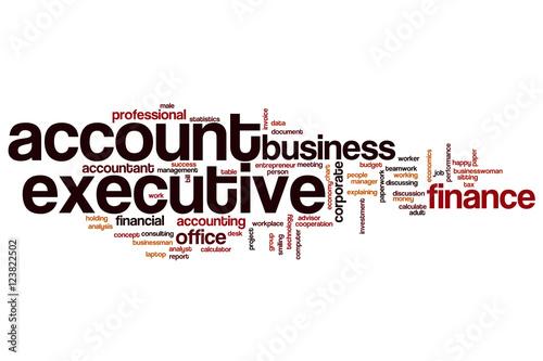 account executive word cloud stockfotos und lizenzfreie bilder auf bild 123822502. Black Bedroom Furniture Sets. Home Design Ideas