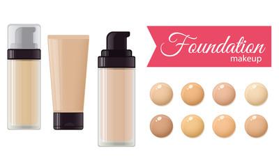 Set of foundation cream