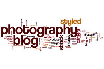 Photography blog word cloud