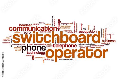 switchboard operator word cloud stockfotos und lizenzfreie bilder auf bild 123823754. Black Bedroom Furniture Sets. Home Design Ideas