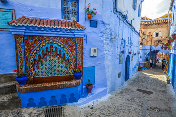 Deurstickers Famous blue city of Chefchaouen, Morocco.