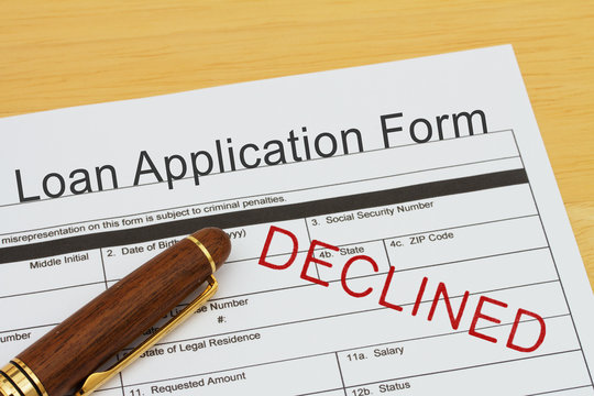 Applying for a Loan Declined