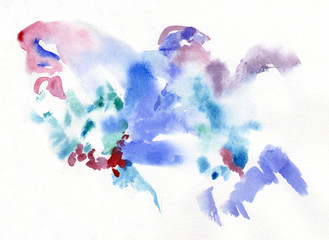watercolor color background element