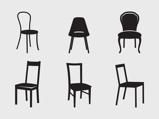 Chairs icons Fototapete