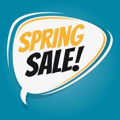spring sale retro speech balloon