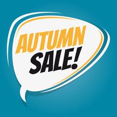 autumn sale retro speech balloon