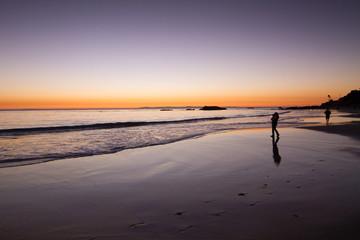 Sunset view of the Pacific Ocean at Heisler Park, in Laguna Beac