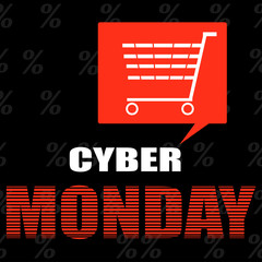 Cyber monday ecommerce promotions and sales. Vector illustration.
