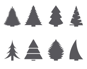 Fir-tree icon set