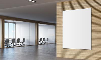 Poser in wooden corridor of company
