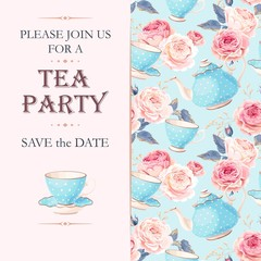 Tea party invitation