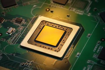 Integrated CPU in golden light