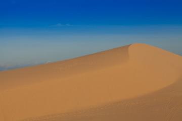 mountain of windy white sand dunes, Muine desert, Phan Thiet, Vietnam