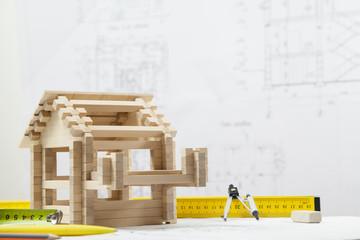 House on the blueprints
