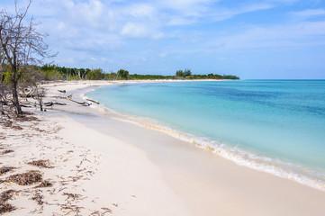 White sand beach on Cayo Levisa Island in Cuba